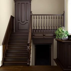 прихожая с лестницей в частном доме фото декора