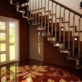 прихожая с лестницей в частном доме фото оформление