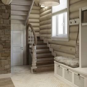 прихожая с лестницей в частном доме варианты фото