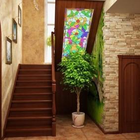 прихожая с лестницей в частном доме идеи вариантов
