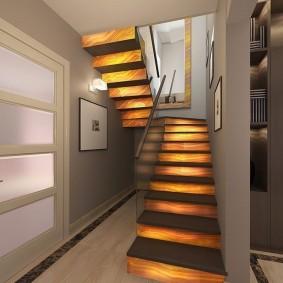 прихожая с лестницей в частном доме виды фото
