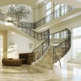 прихожая с лестницей в частном доме дизайн идеи