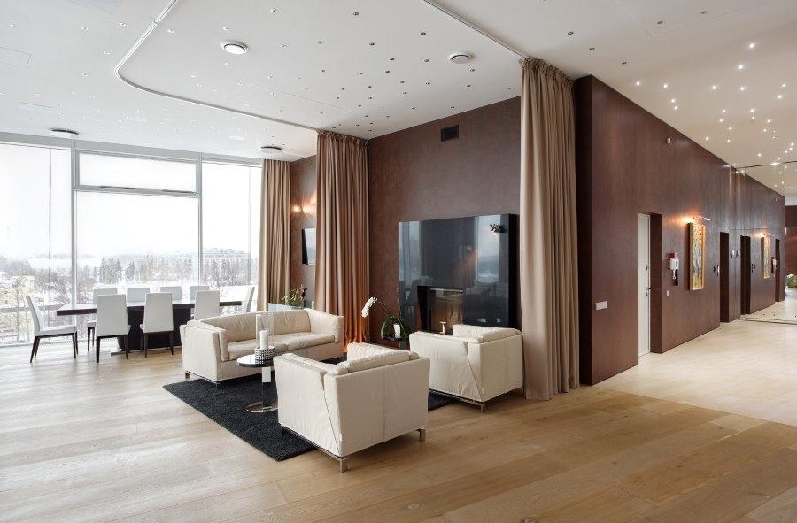 Роскошная квартира в элитном доме с панорамными окнами