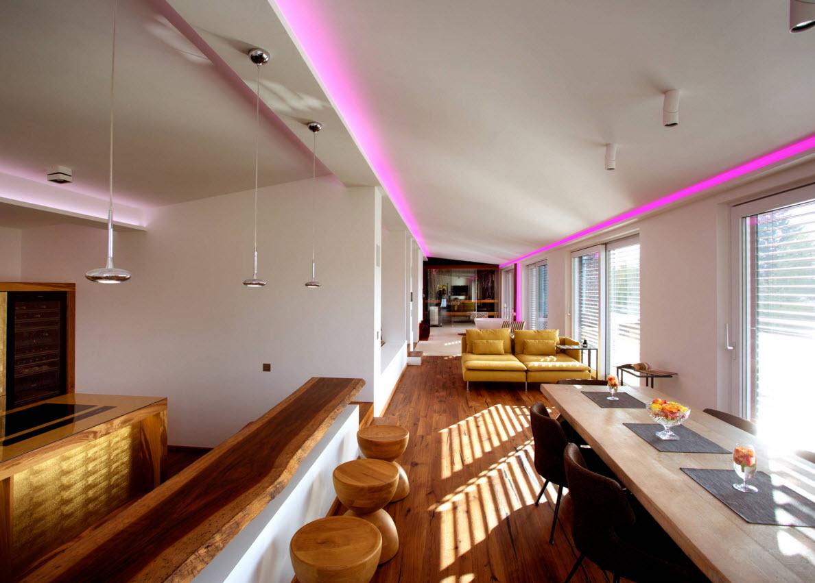 прямоугольная комната дизайн