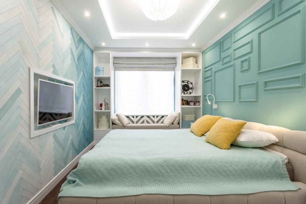 прямоугольная спальня дизайн