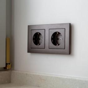 розетки и выключатели в квартире фото интерьер