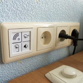 розетки и выключатели в квартире фото интерьера