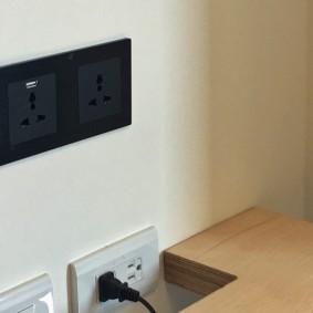 розетки и выключатели в квартире фото оформления