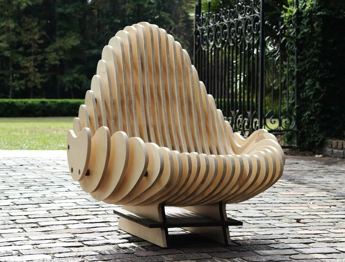 садовая мебель из фанеры фото