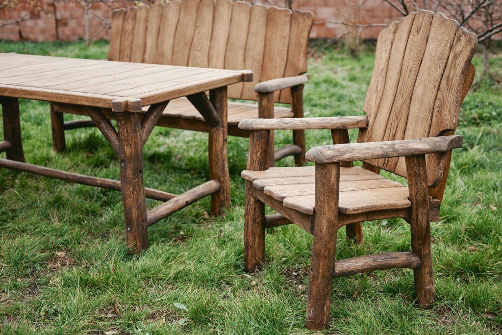 садовая мебель из массива фото