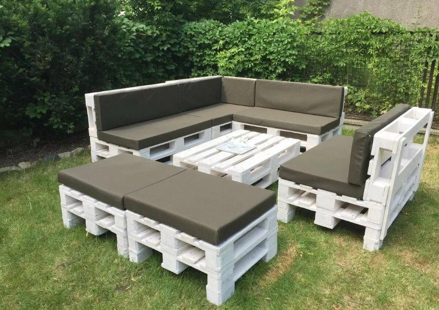 Мебель для сада из старых европоддонов