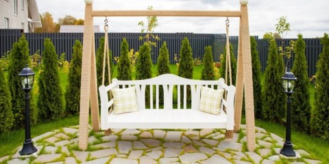 садовые качели для дачи