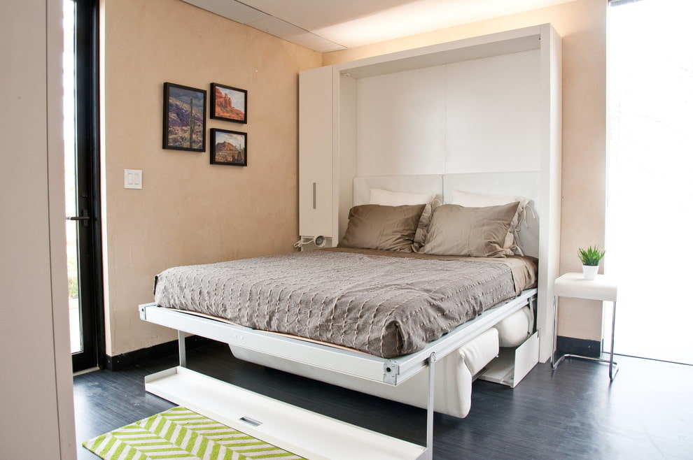 шкаф кровать в спальне