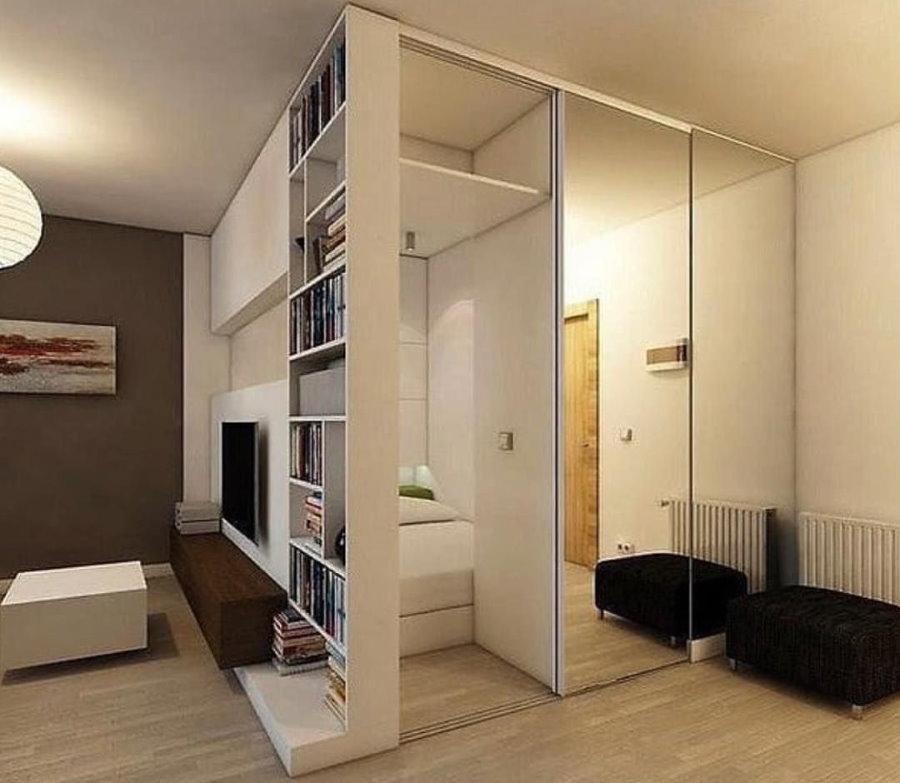 Зонирование шкафом комнаты в хрущевке