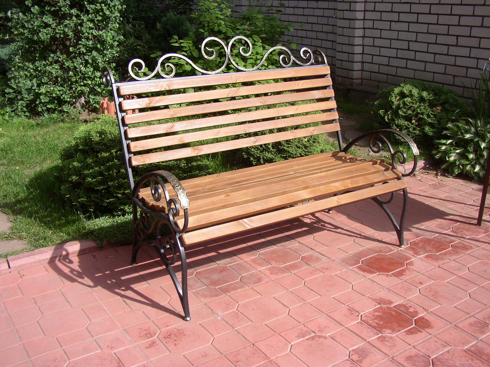 кованые скамейки идеи