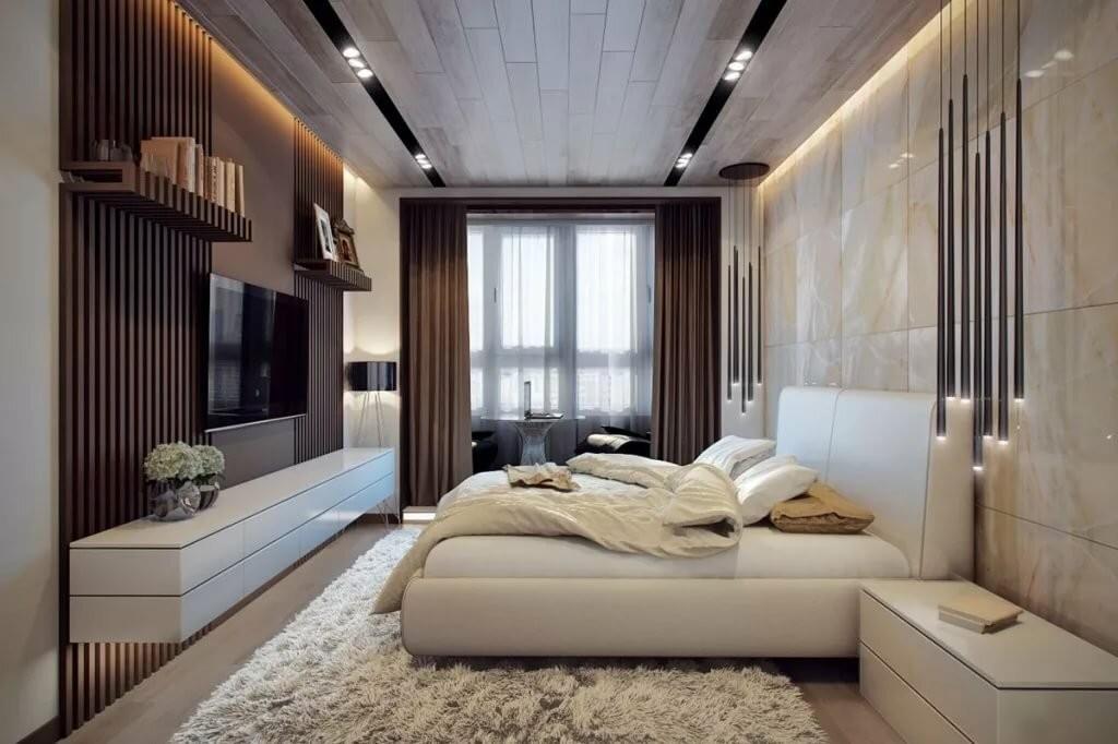Дизайн большой спальни в пастельных тонах