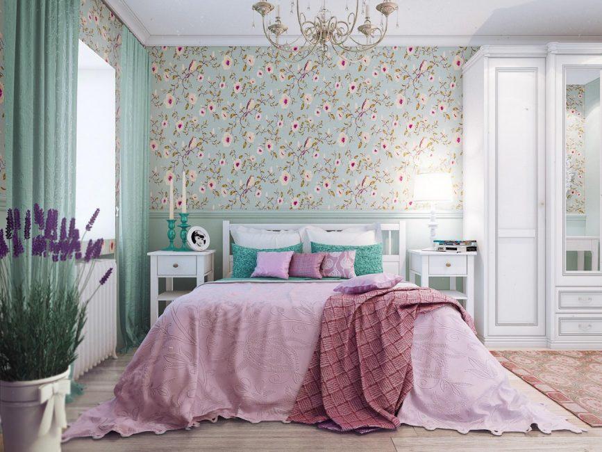 современная спальня кантри