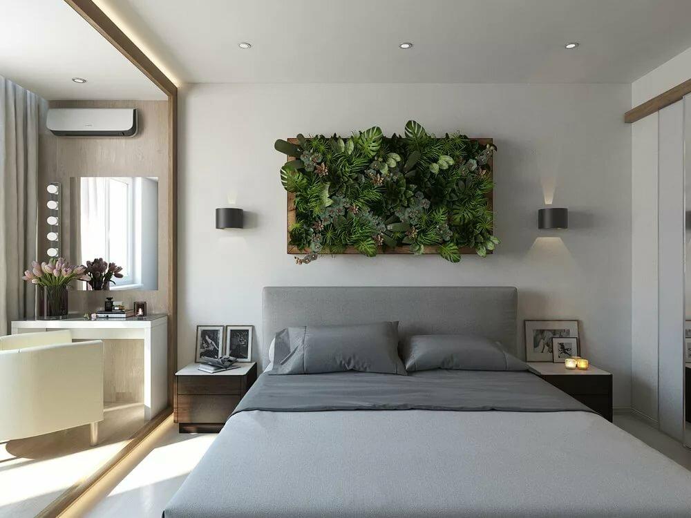 современная спальня в эко стиле