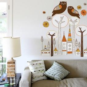 совы на стене