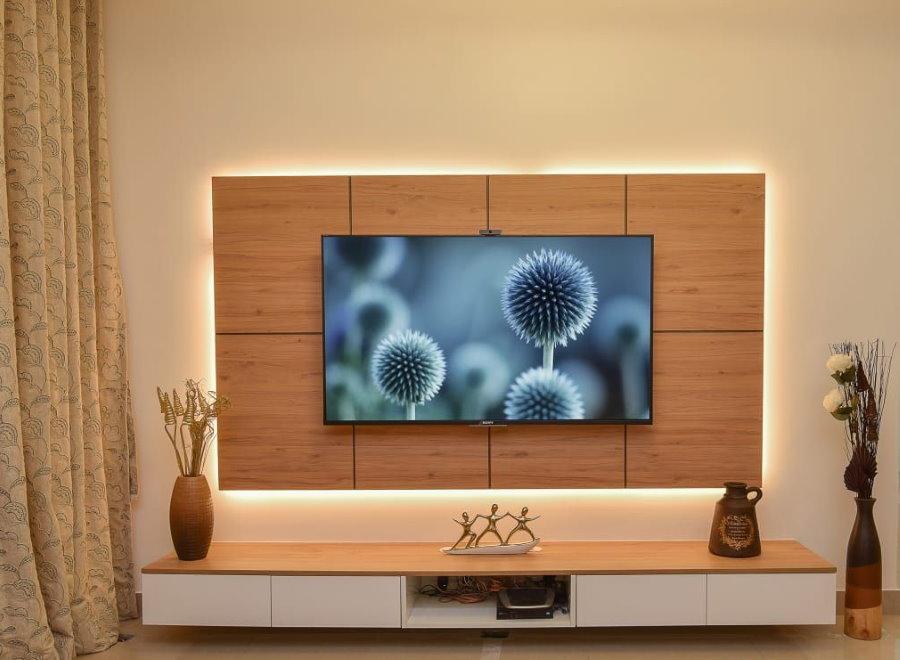 Декоративное панно на стену под телевизор