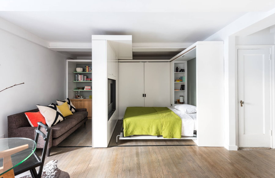 Мебель-трансформер в интерьере общежития