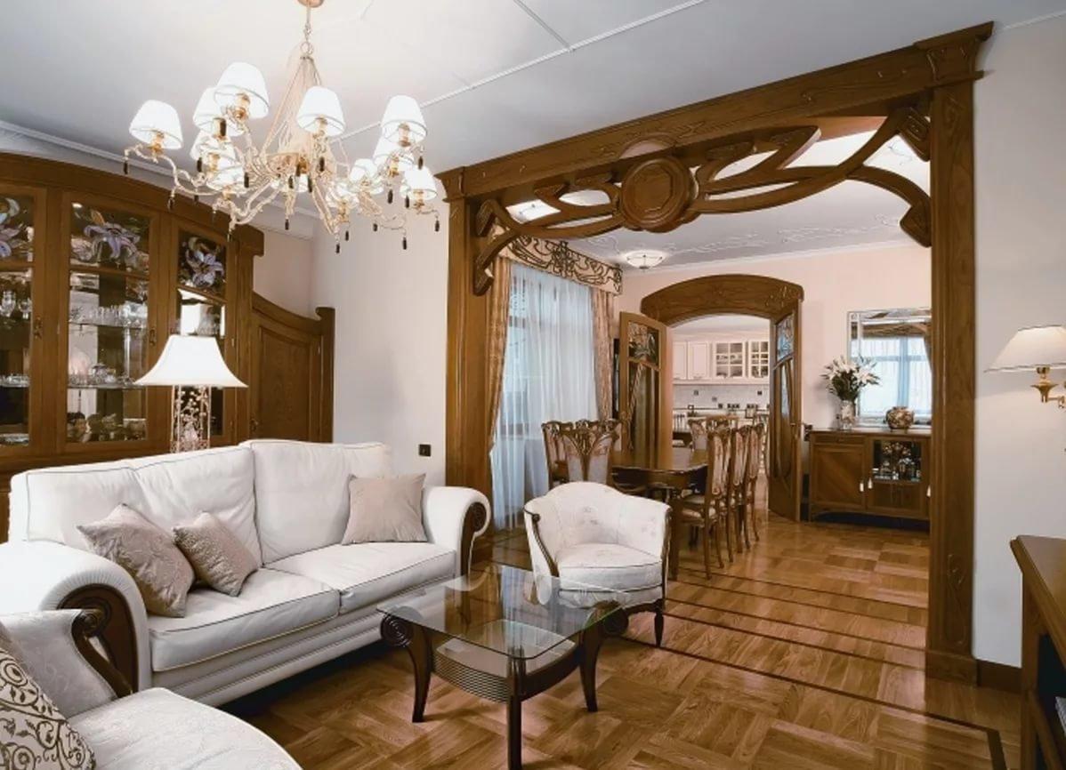 уютная гостиная модерн