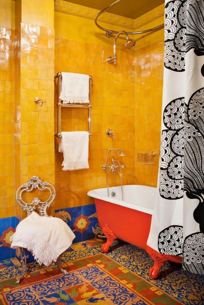 Дизайн ванной комнаты в стиле бохо