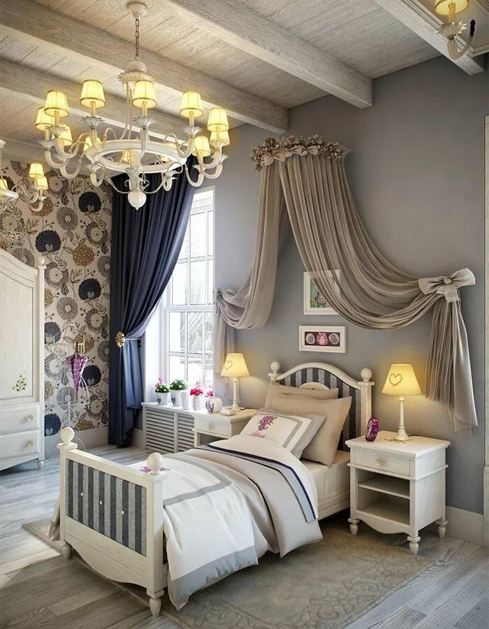 Детская кровать с балдахином в стиле прованса