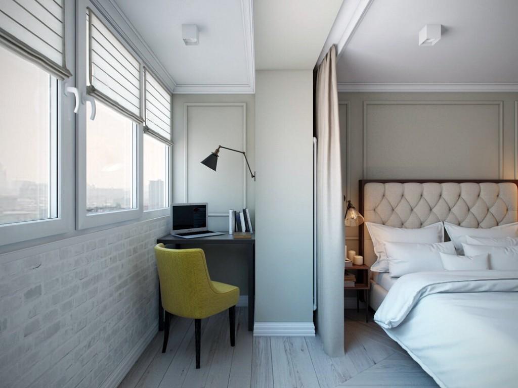 Спальная комната с присоединенным балконом