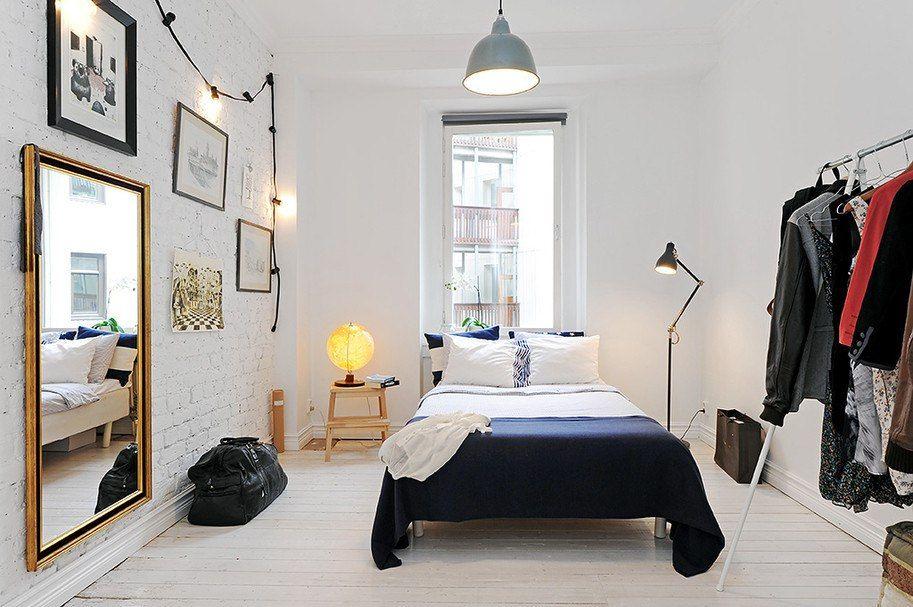 Окраска стен спальни в белый цвет