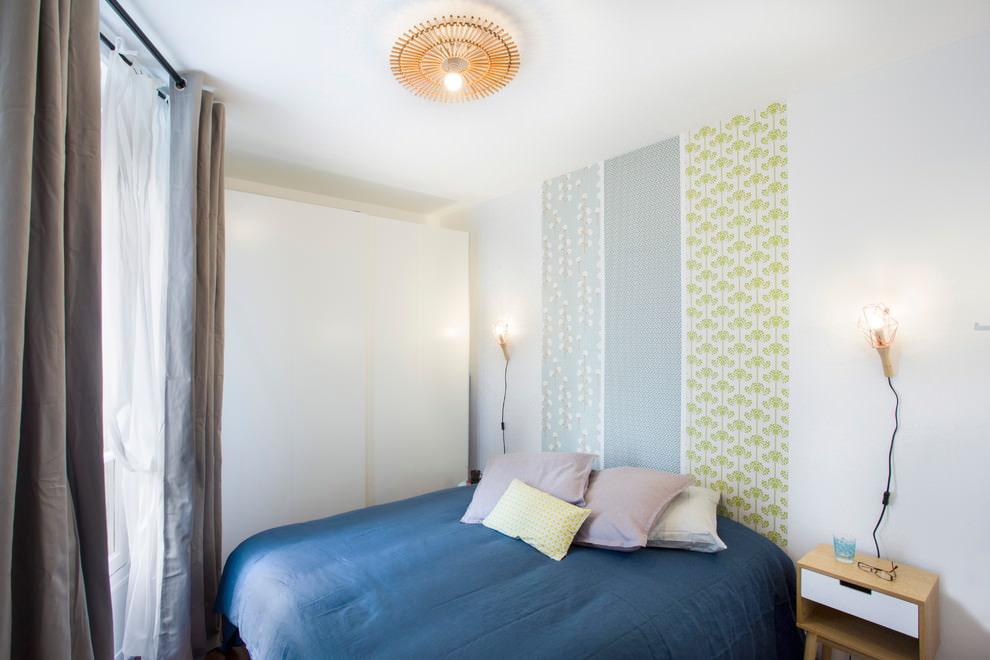 Оформление спальной комнаты со стенами белого цвета