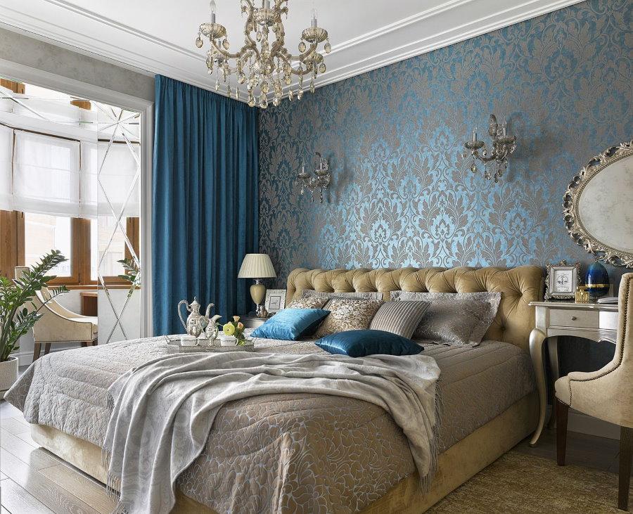 Выбор обоев для спальни в стиле классика