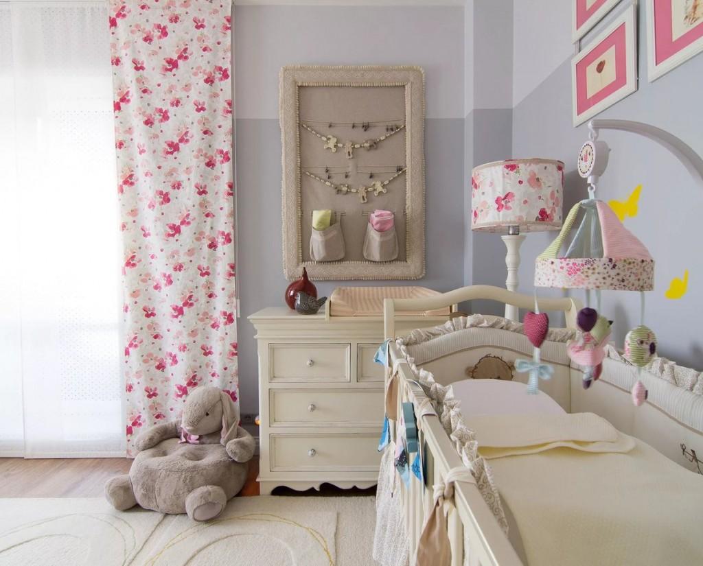 Декорирование комнаты в стиле прованс для новорожденного