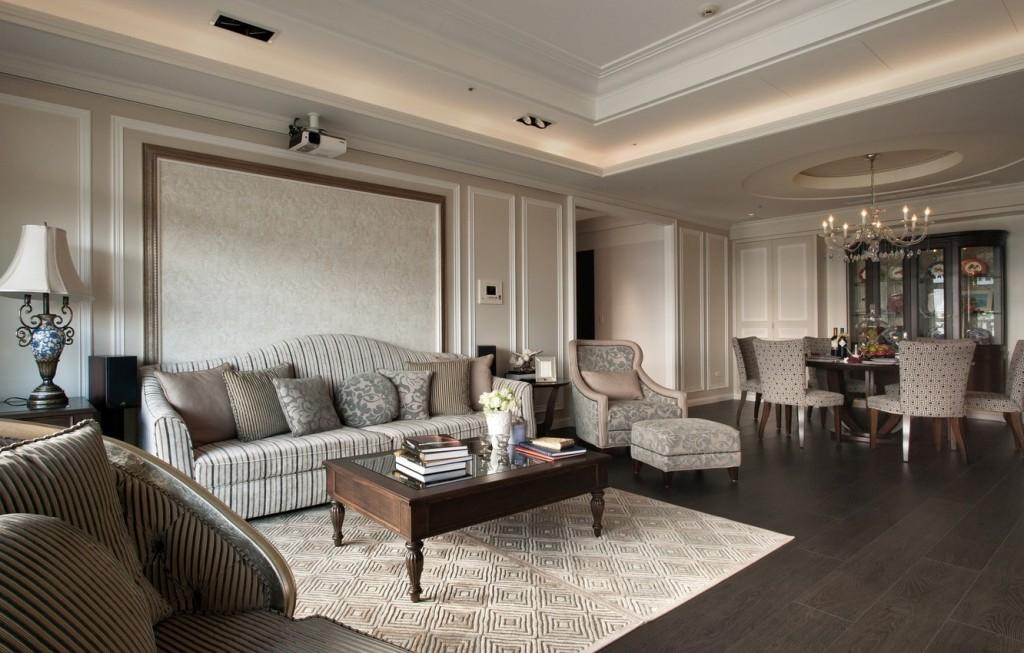 Пример декора гостиной в стиле классика