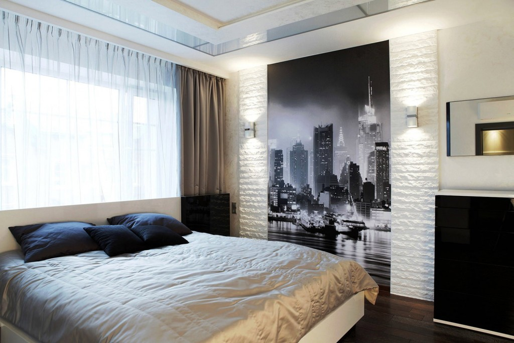 Декор спальни обоями с фотопечатью