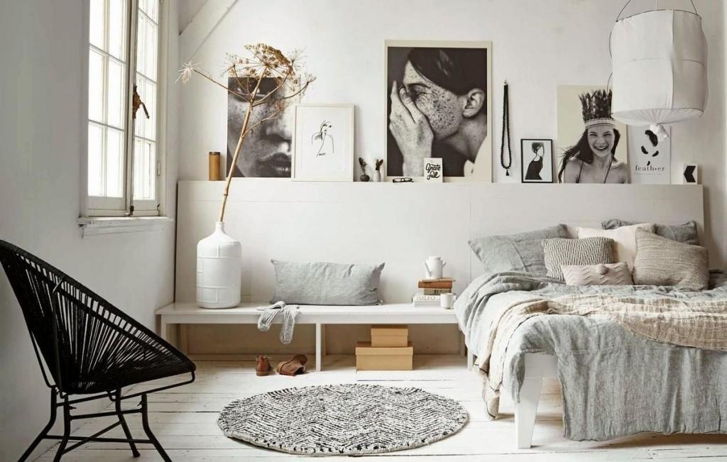 Декорирование спальни в скандинавском стиле интерьера