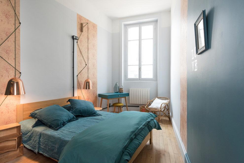 Оформление интерьера узкой спальни в квартире