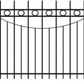 Эскиз забора из профильной трубы разного сечения