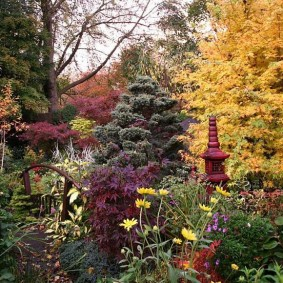 Английский сад в осенний период