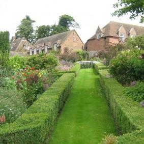 Садовая дорожка с травянистым покровом