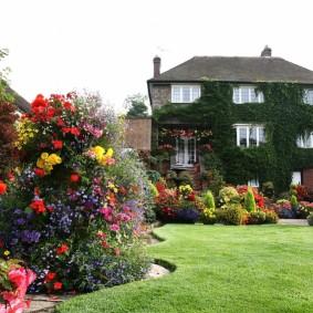 Ровный газон в классическом стиле