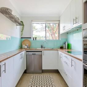 Маленькая кухня п-образной планировки