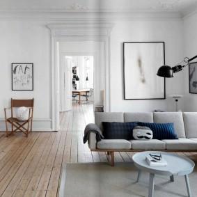 Дощатый пол в интерьере квартиры