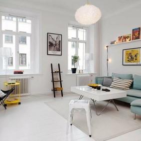 Оформление гостиной квадратной формы в квартире