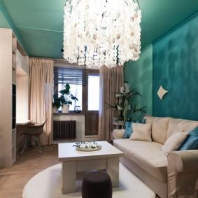 Дизайн зала в квартире современного стиля