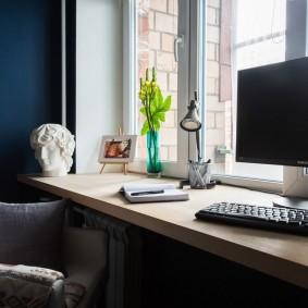 Рабочий стол вместо подоконника
