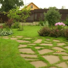Ландшафтный дизайн участка с партерным газоном
