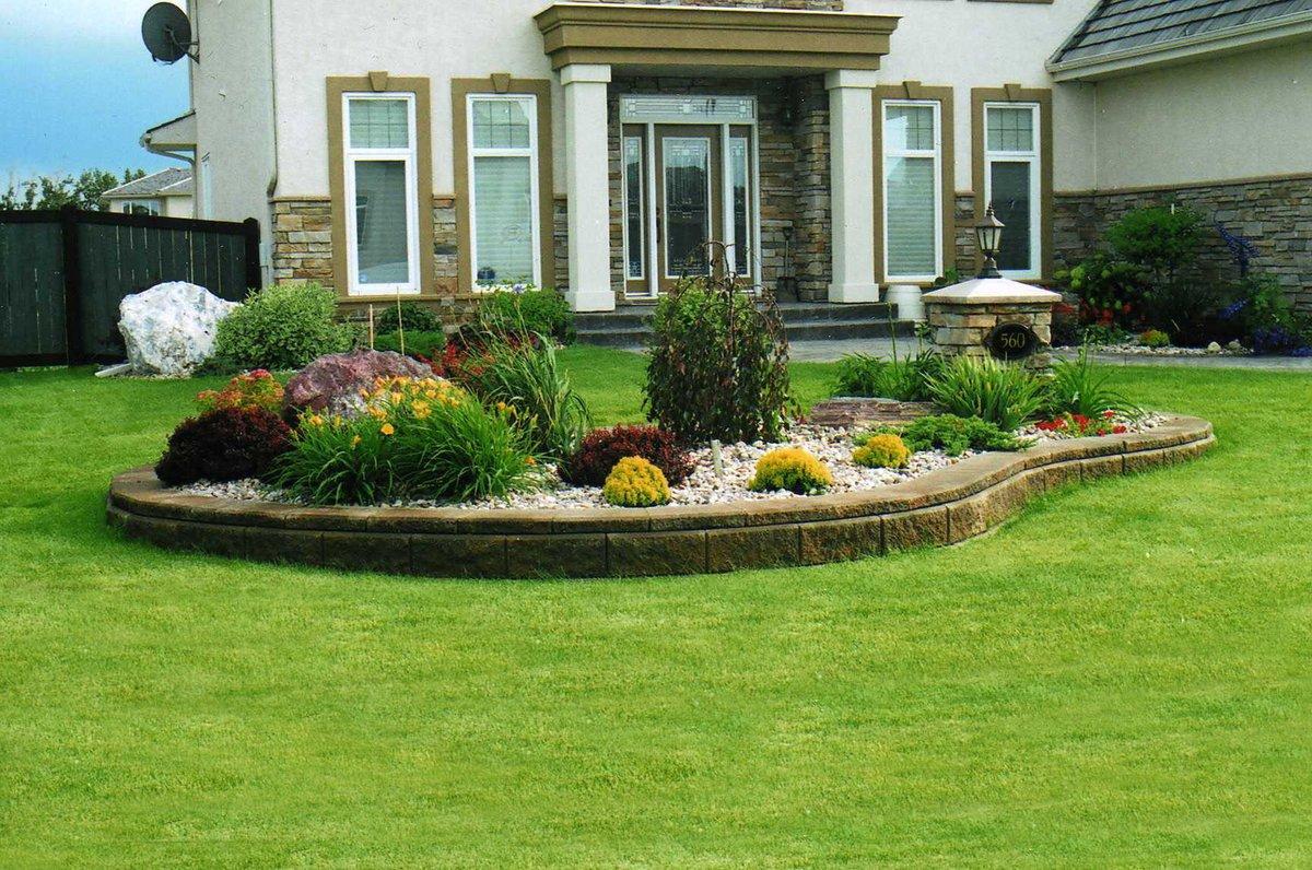доска дизайн газона перед домом фото поделится