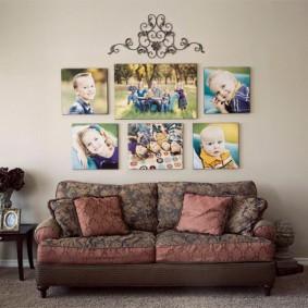Детские фотографии в интерьере комнаты