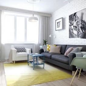 Оформление гостиной комнаты в светлых тонах